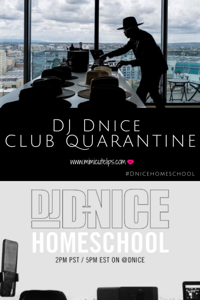 DJ DNICE Club Quarantine made epic history on Instagram with 105k celeb and reg party goers. He played for 9 hours. #ClubQuarantine @DNICE on IG. #DNiceHomeSchool