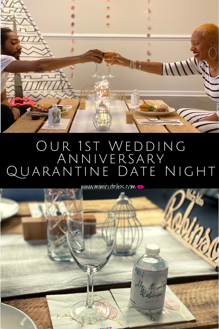 When your 1st Wedding Anniversary happens during a global pandemic ie. COVID-19 you have to make it work. This is my DIY quarantine date night in our home. #QuarantineDateNight