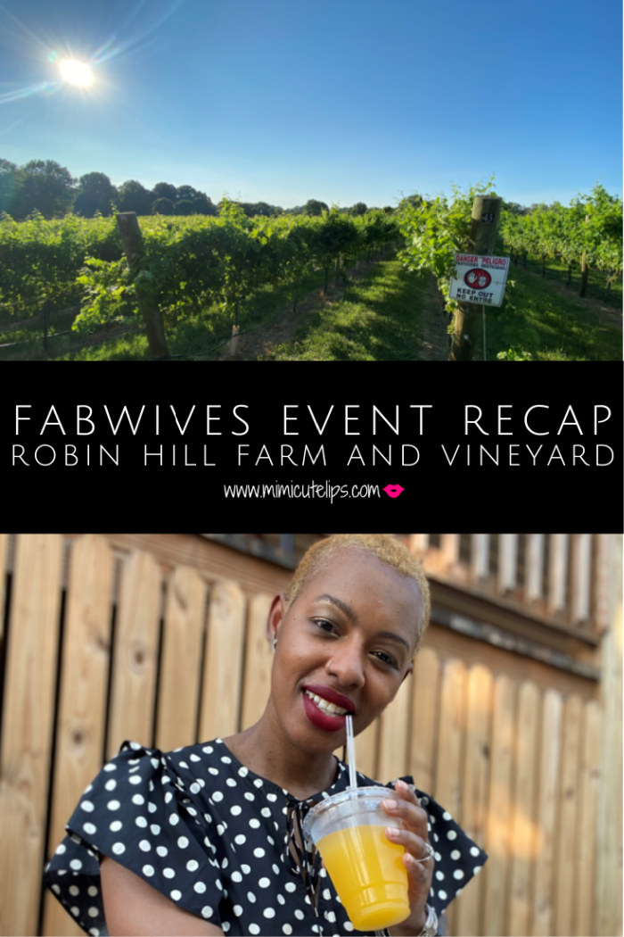 This is a Fab Wives Event recap for the socially distanced picnic at Robin and Hill Farm and Vineyard. #FabWifeLife #FabWives